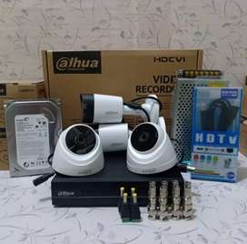 CCTV paket 4 kamera 4CH Dahua 2MP