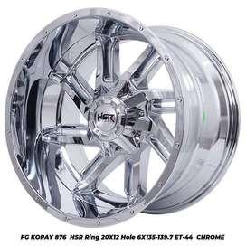 Velg Mobil Pajero FG KOPAY HSR R20X12 H12X135-139,7 ET-44 CHROME (CB1)