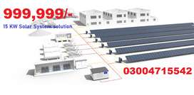 Solar system solution 15 KW for Home Industry  corporate with warranty