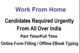 Online Form Filling and Offline EBook Typing Data Entry Work From Home