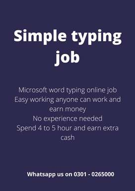 Earn with authentic daily base payment opportunity Simple typing job