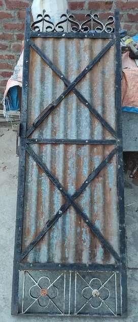 Heavy iron gate