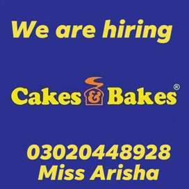 We are hiring in cake s bake with good salry pkg