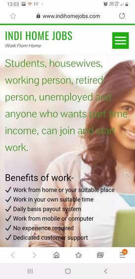 Part time jobs at most trusted indihomejobs