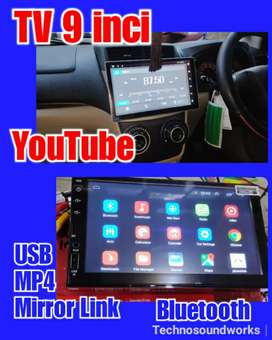 Tv 9 inch dhd Android USB MP4 doubledin headunit tape for sound audio