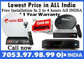 Dishtv Airtel digital XSTREAM DTH Tatasky binge+ Videocon D2H Tata sky