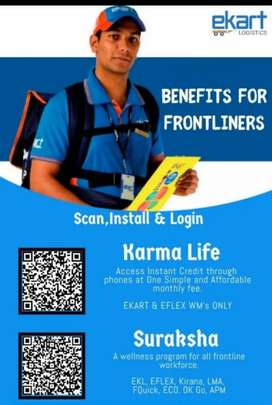 Need delivery boy for ekart logistics company.all over west bengal