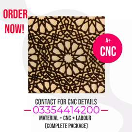Wood CNC Designing Service in all Pakistan