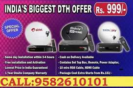 ALL NEW DTH AIRTEL- DISH TV- TATA SKY HD CONNECTION WITH INSTALLATION