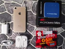 Iphone-7 32gb wifi only + Modem Andromax + paket data