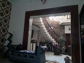 Double storey kothi 250 yard area fully furnished with 5 bed rooms