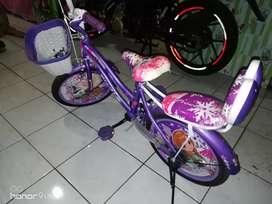 Sepeda anak frozen untuk usia 5-7thn kondisi bagus,
