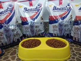jual makanan kucing merk beauty