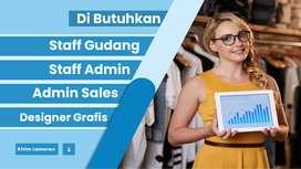 Dibutuhkan Tenaga Packing - Admin - Sales Online - Design Grafis