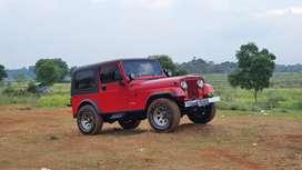 Jeep CJ7 4x4 4wd 1983 sumbu lebar antik mulus terawat original
