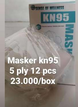 Masker kn95 warna putih