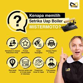 Setrika Uap Laundry Konveksi Gas MISTERMOTO 15ltr 1 Setrika