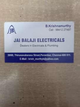 Need  girls for electrical shop at Perambur.