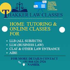 THAKKER LAW CLASSES ( HOME TUTORS AND ONLINE CLASSES)