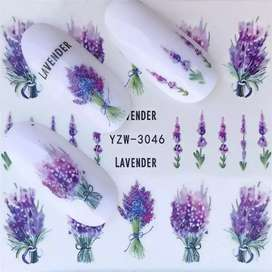 Nail Art Water Transfer Stickers Full Wraps Deer/Lavender
