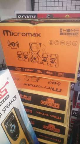 Home Theatre 4.1 MICROMAX BRAND NEW SEALED PACK 1300