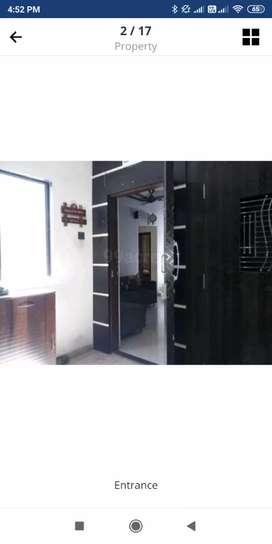 Semi furnished flat with gym n club house