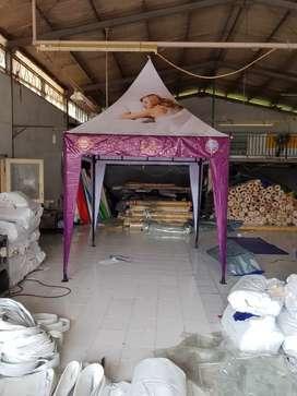 Tenda custom logo. Ready stock Palembang