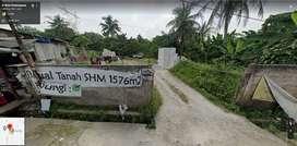 Kavling 1576 m2 Siap Bangun Depan Perumahan Nanggewer, Cibinong, Bogor