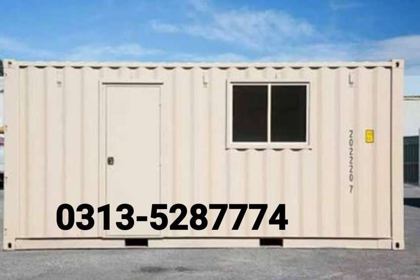 Porta cabin office container prefab house guard room toilet washroom 0