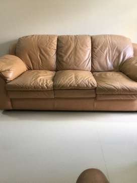 Pure leather 6 seater Durian sofa set 3 2 1