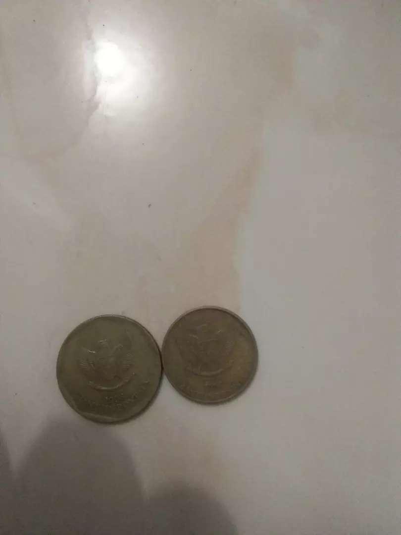 Unag koin 100 dan 50 rupiah gambar komodo dan kerbau 0