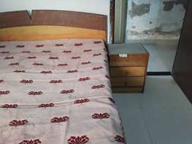 Double Bed with storage, along with side table and branded mattress
