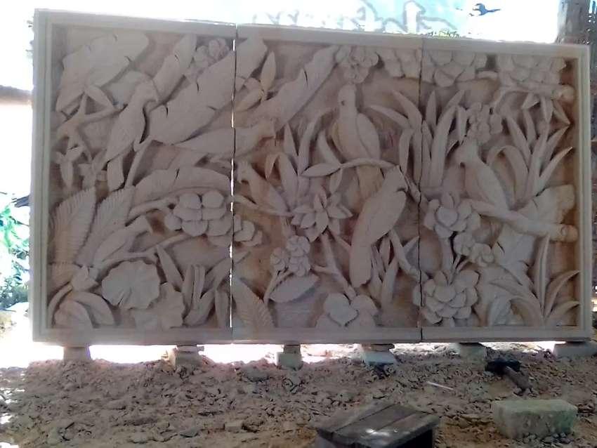 Relief batu alam 0