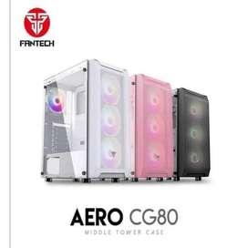 Casing Gaming FANTECH AERO CG 80 WHITE / PINK / BLACK