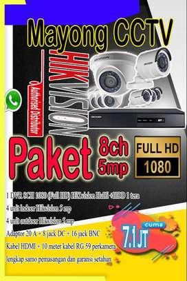 CCTV Paket Hikvision 5 mp 8 ch original