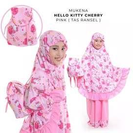 Mukena Hello Kitty Tas rangsel ukuran L
