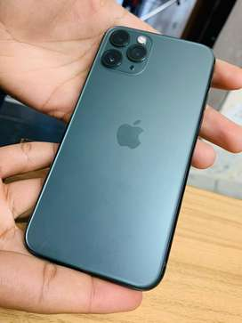 Iphone 11 pro 256 gb green color 100% condition