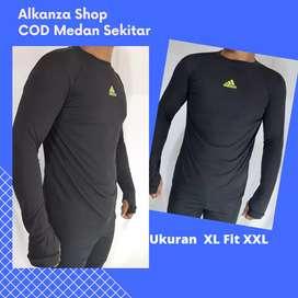 Baju Kaos Manset Untuk Sepeda dll ukuran XL fit XXL
