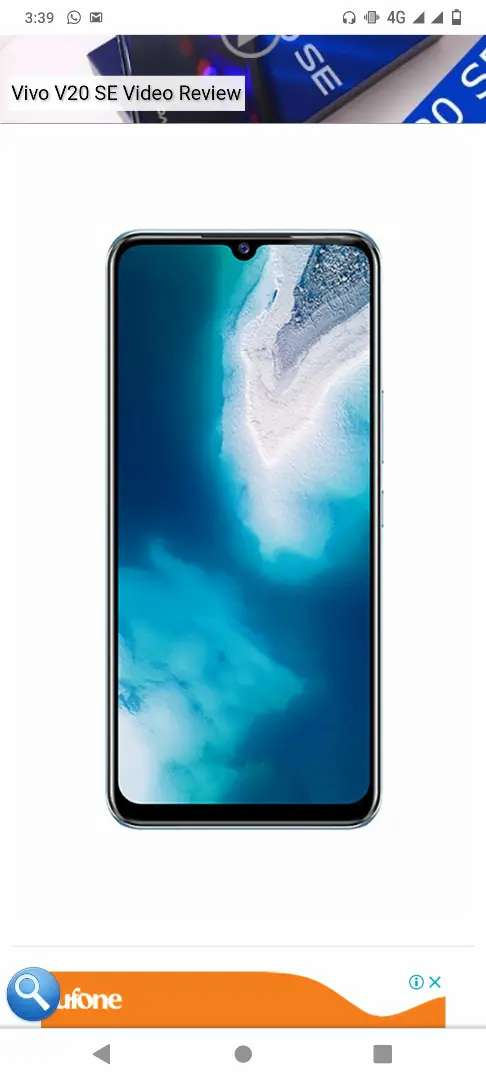 Vivo v20Se sell new 10 din use only full warranty all asesery 0