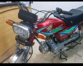 Honda CD 70 2019 model... 5000 km only serious buyers can contact
