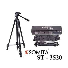 Tripod SOMITA ST 3520 DSLR/Action Camera 3 Way Panhead Free Tas Tripod