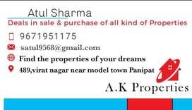 a new tripple storey house 225 gaj at Model town Panipat