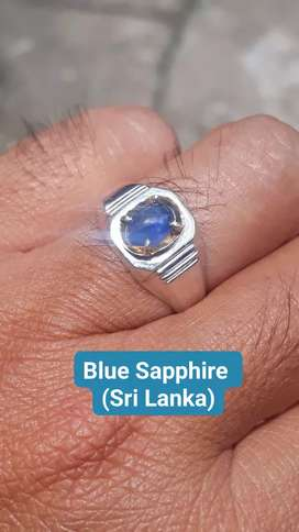 Natural Blue Sapphire Ceylon Sri lanka + memo