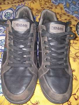 DENIM SIDE ORIGINAL LEATHER SHOES