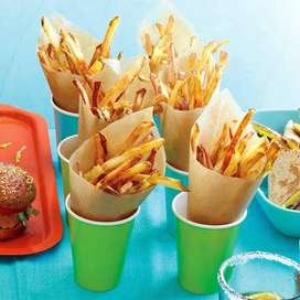 French fries , pizza fries or Chai karigar