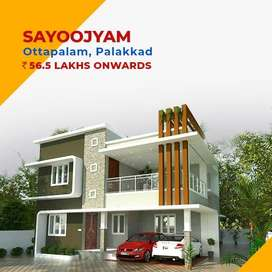 5.5 Cent Land Independent 4BHK House Sale In Ottapalam