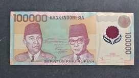 Uang Rp100000 Polymer tahun 1999
