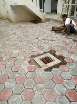 grass bloc konblok paving block paping blok bata tempel expose loster