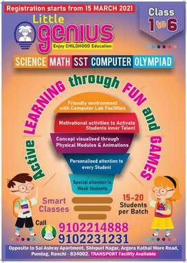 Faculty required for class 1 to 6.Sub: Math, Sci, SST, Computer