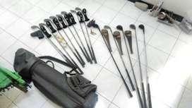 14 stick golf mix (callaway, mizuno, dll) bola, handgrip dan tas golf